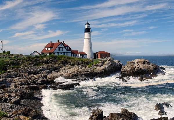 Portland Photograph - Portland Head Lighthouse by Georgia Fowler