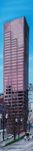 Wall Art - Painting - Portland Oregon Us Bank Corp Tower by Dunbar's Modern Art