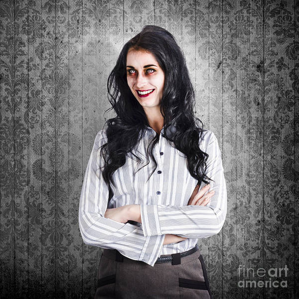 The Walking Dead Wall Art - Photograph - Portrait Of A Confident Dead Businesswoman by Jorgo Photography - Wall Art Gallery