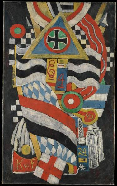 Central America Painting - Portrait Of A German Officer by Marsden Hartley