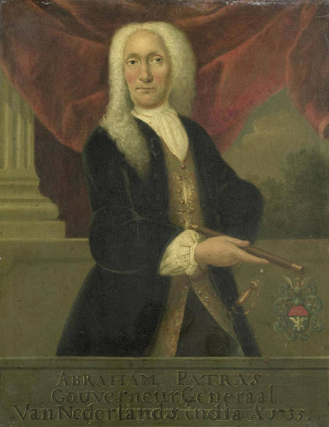 Wall Art - Drawing - Portrait Of Abraham Patras, Governor-general Of The Dutch by Litz Collection