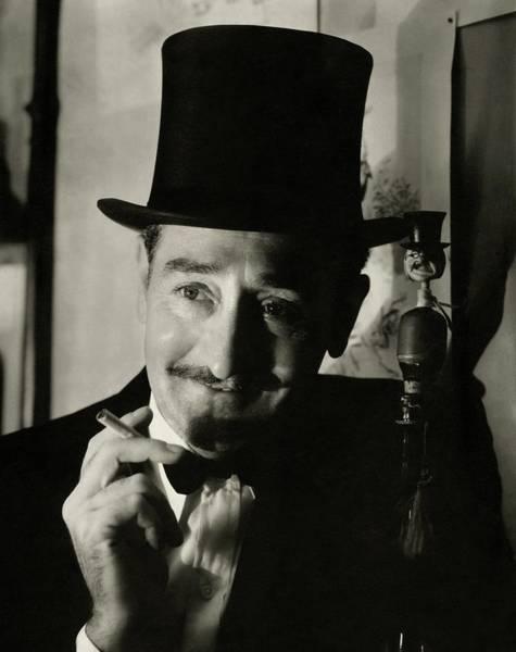 Top Hat Photograph - Portrait Of Adolphe Menjou by Edward Steichen