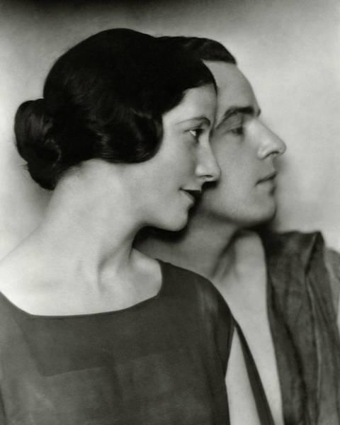 Husband Photograph - Portrait Of Alfred Lunt And Lynn Fontanne by Nickolas Muray