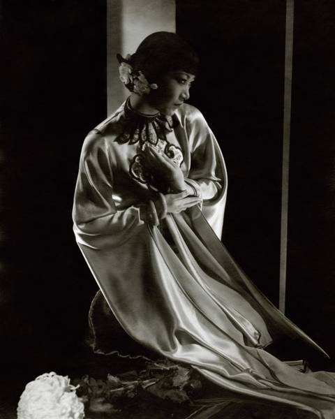 Film Industry Photograph - Portrait Of Anna May Wong by Edward Steichen