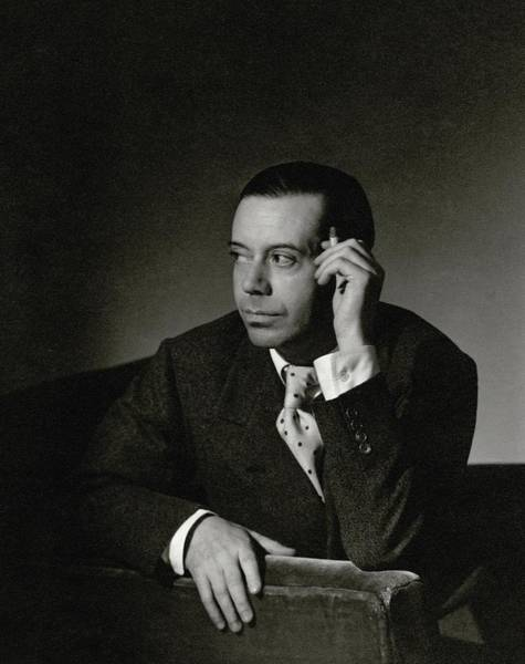 Music Photograph - Portrait Of Cole Porter by Horst P. Horst