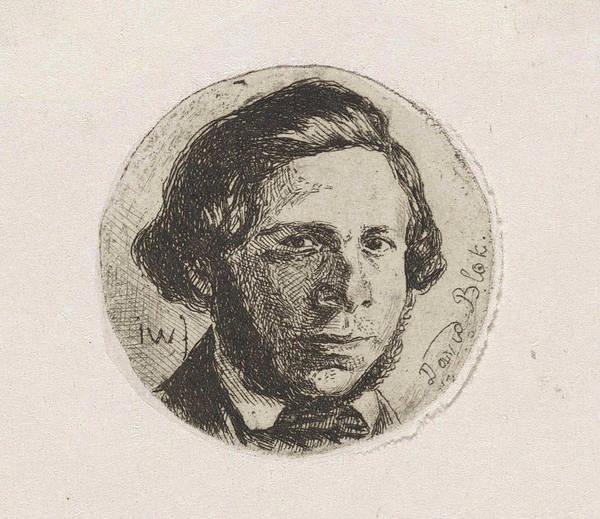 Wall Art - Drawing - Portrait Of David Block, Jan Weissenbruch by Jan Weissenbruch