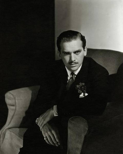 Male Portrait Photograph - Portrait Of Douglas Fairbanks Jr by Horst P. Horst