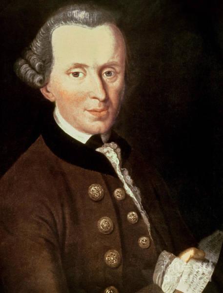 Emmanuel Wall Art - Painting - Portrait Of Emmanuel Kant by German School