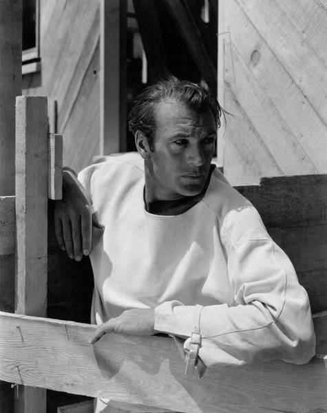 Glamour Photograph - Portrait Of Gary Cooper by George Hoyningen-Huene