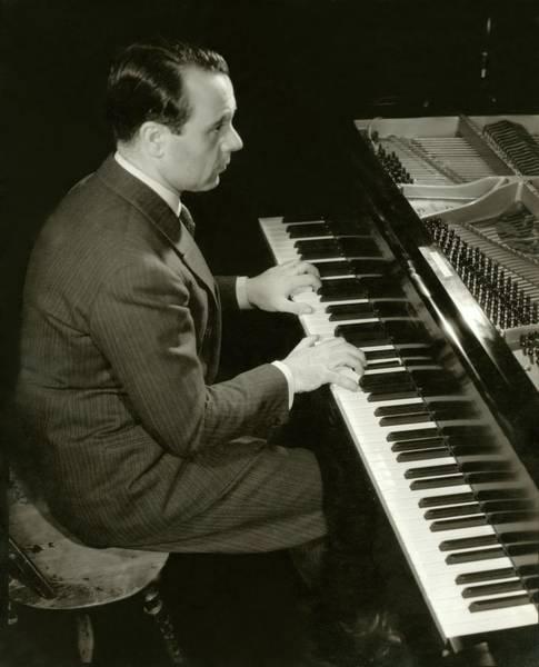 Wall Art - Photograph - Portrait Of Jose Iturbi Sitting At His Piano by Edward Steichen