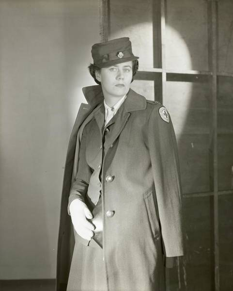 Red Cross Photograph - Portrait Of Katherine Blake In Her Red Cross by Horst P. Horst