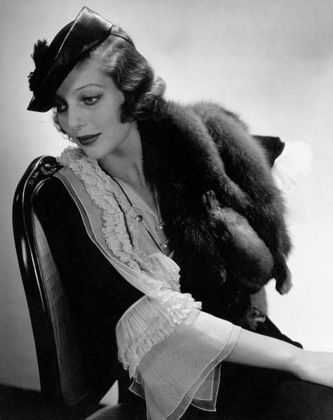 July 15th Photograph - Portrait Of Loretta Young by Edward Steichen