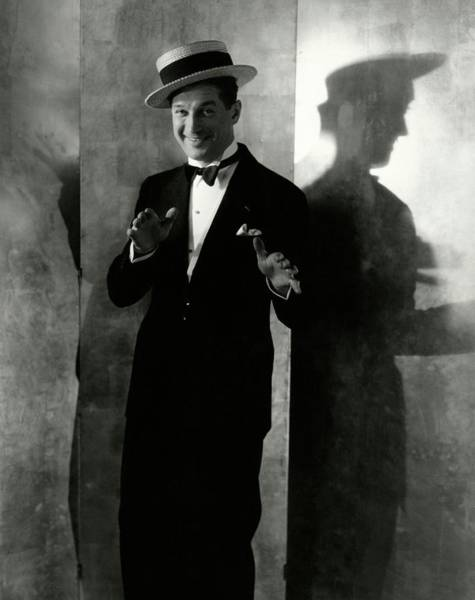 Gesture Photograph - Portrait Of Maurice Chevalier by Edward Steichen