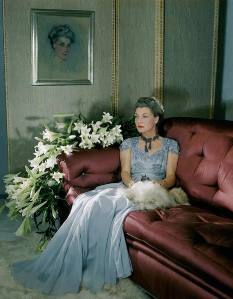 Flower Photograph - Portrait Of Mona Von Bismarck by Horst P. Horst
