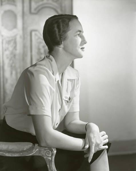 Steven Photograph - Portrait Of Mrs. Stevens Baird by Horst P. Horst