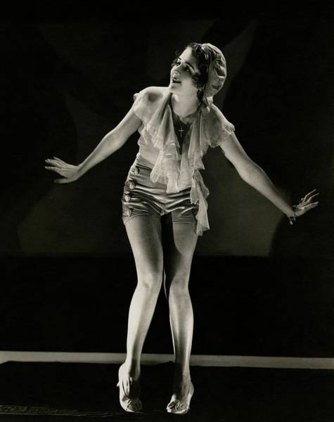 Dance Photograph - Portrait Of Ruby Keeler by Edward Steichen