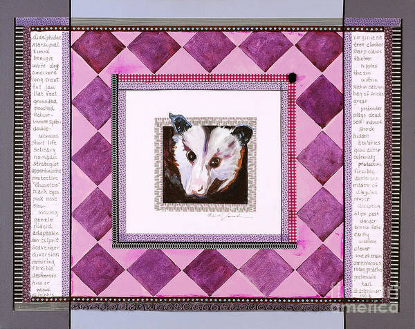 Wall Art - Mixed Media - Possum Speaks by Laura Joseph
