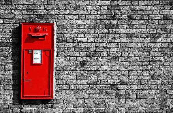 Red Brick Photograph - Post Box by Mark Rogan