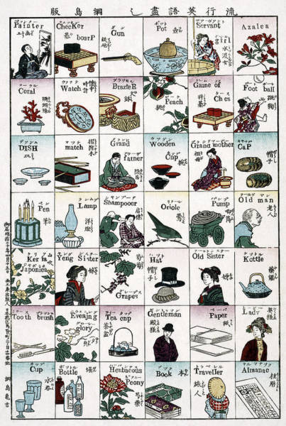 Checker Drawing - Poster Language, 1887 by Granger