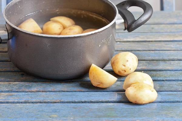 Boil Photograph - Potatoes by Tom Gowanlock