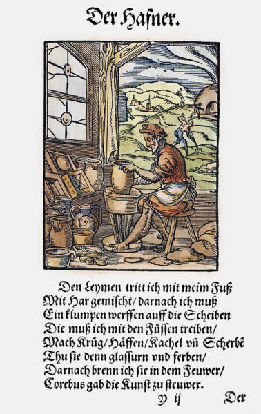 Potters Wheel Wall Art - Painting - Potter, 1568 by Granger