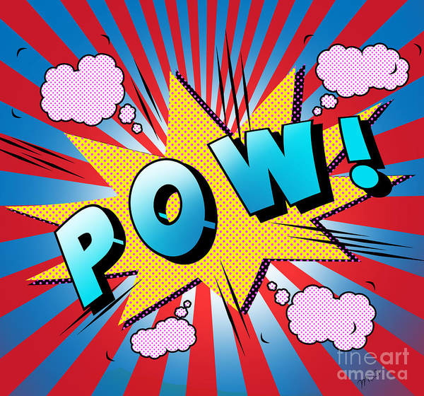 Designs Digital Art - pow by Mark Ashkenazi
