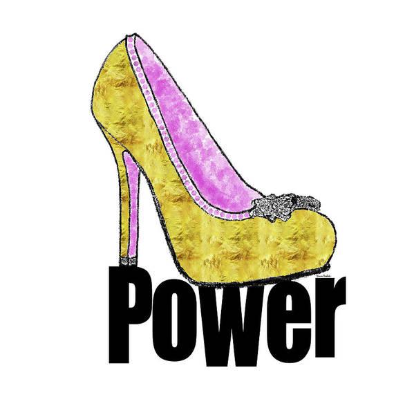 Girly Girl Painting - Power Shoe by Ramona Murdock