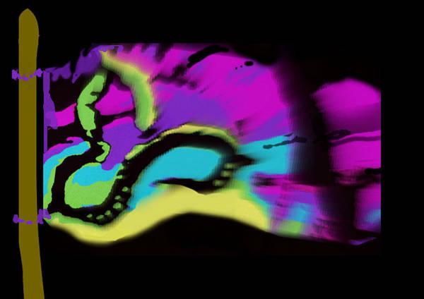 Wiese Digital Art - Pranic Summit Flag by Wendy Wiese