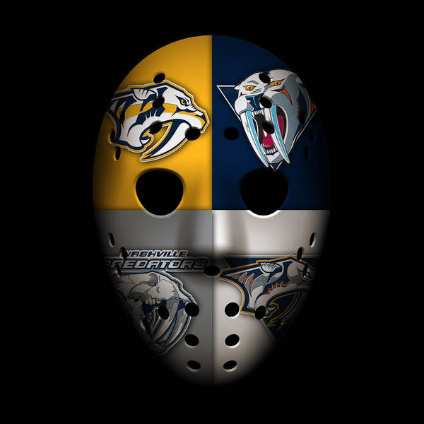 Nashville Photograph - Predators Goalie Mask by Joe Hamilton