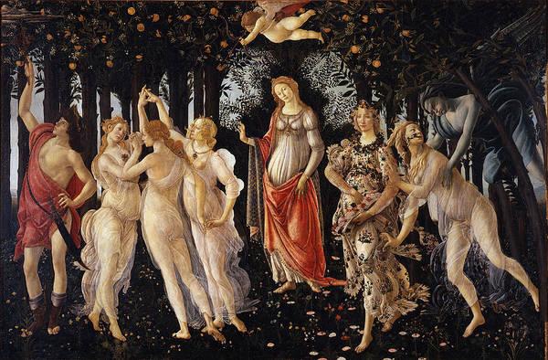 Botticelli Wall Art - Painting - Primavera by Sandro Botticelli