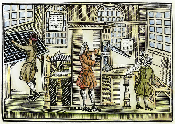Wall Art - Painting - Printing Office, C1710 by Granger