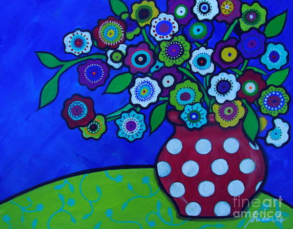 Painting - Prisarts Florals by Pristine Cartera Turkus