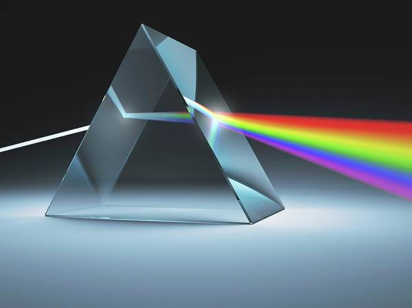 Generate Wall Art - Photograph - Prism And Rainbow by Ktsdesign