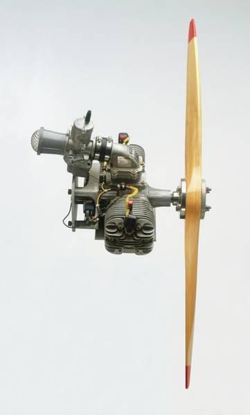 Blades Photograph - Propeller Aeroplane Engine by Dorling Kindersley/uig