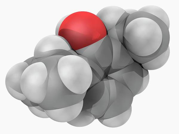Short Cut Photograph - Propofol Drug Molecule by Laguna Design/science Photo Library