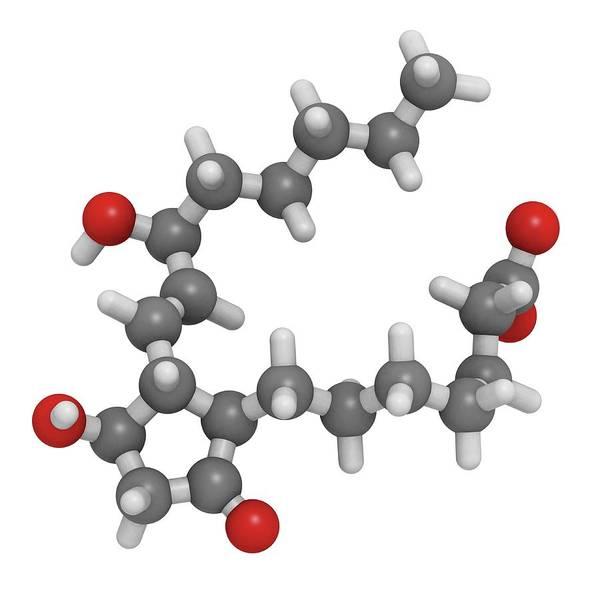 Wall Art - Photograph - Prostaglandin E1 Drug Molecule by Molekuul/science Photo Library