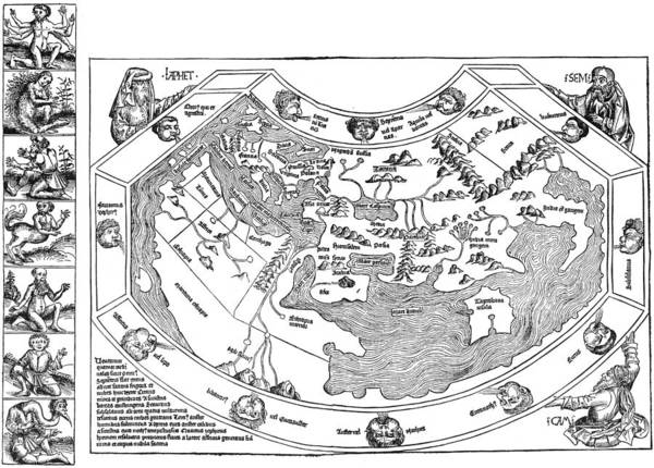 Wall Art - Painting - Ptolemaic World Map, 1493 by Granger