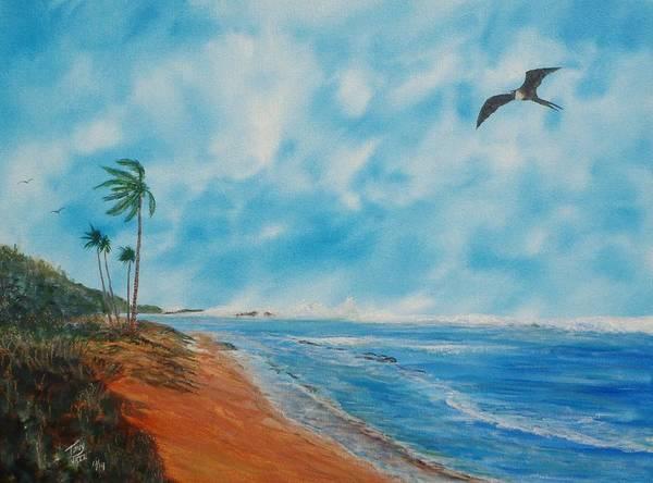Painting - Puerto Nuevo Beach by Tony Rodriguez