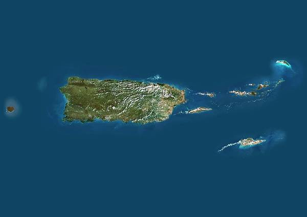 United States Territory Photograph - Puerto Rico by Planetobserver/science Photo Library