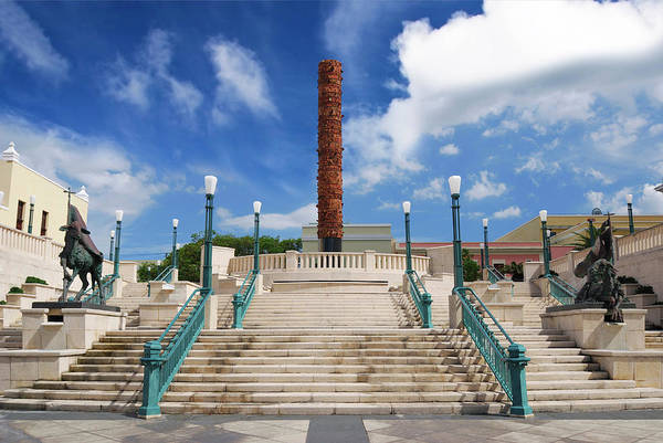 Puerto Rican Photograph - Puerto Rico, San Juan, Plaza Del Quinto by Miva Stock