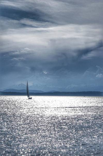 Photograph - Puget Sound Sailboat  by Kathy McCabe