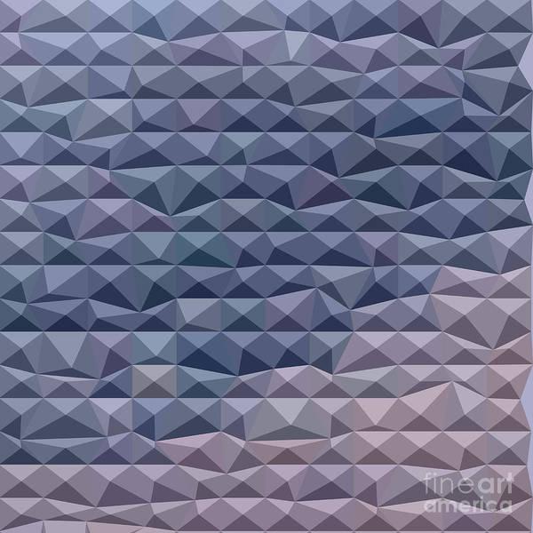 Wall Art - Digital Art - Purple Abstract Low Polygon Background by Aloysius Patrimonio