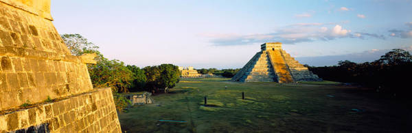 Chichen Itza Photograph - Pyramids At An Archaeological Site by Panoramic Images