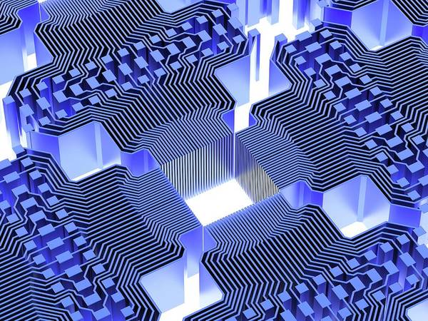 Computer Illustration Photograph - Quantum Computer by Alfred Pasieka