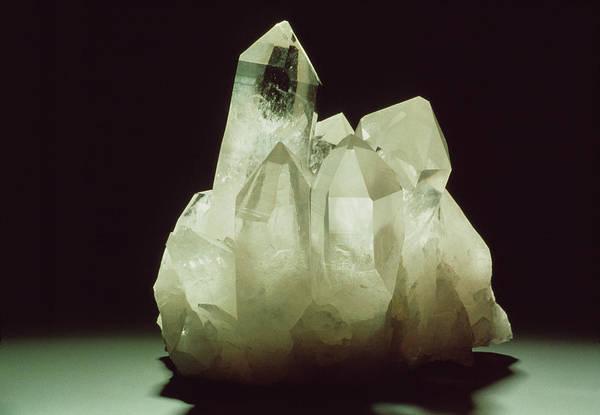 Quartz Photograph - Quartz Crystals by Th Foto-werbung/science Photo Library