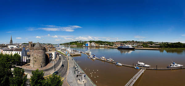 Suir Photograph - Quayside, Reginalds Tower, River Suir by Panoramic Images