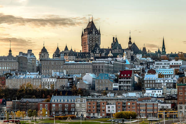 Quebec City Photograph - Quebec Skyline by Bill Lindsay
