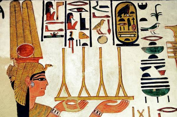 Wall Art - Photograph - Queen Nefertari Offering Fabric by Patrick Landmann/science Photo Library