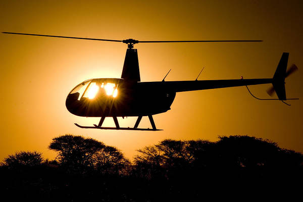 Rotor Photograph - R44 Sunset by Paul Job