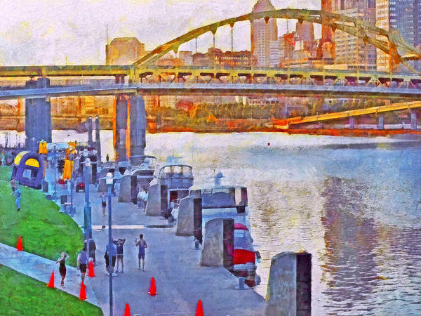 Digital Art - Race Day Dawning At The Pittsburgh Triathlon 2012 by Digital Photographic Arts
